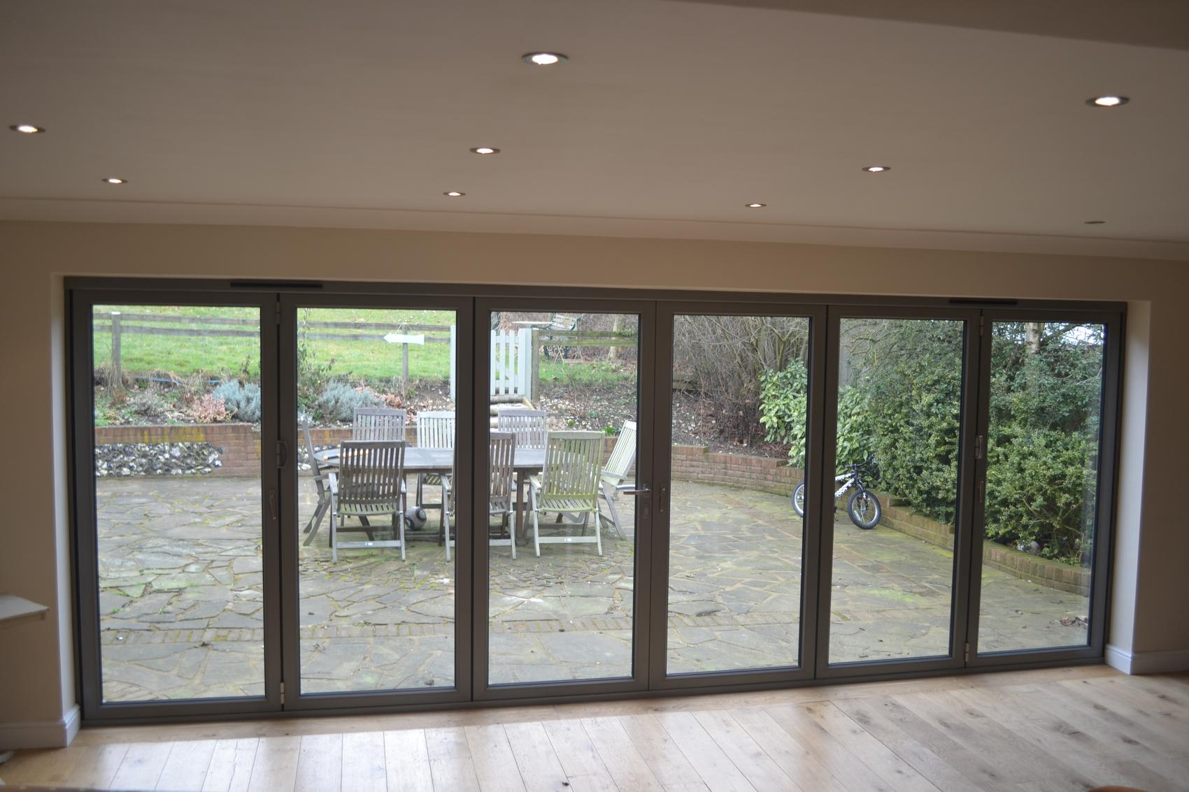 6 panel bifold doors - Express Supply Only Double Glazing Service