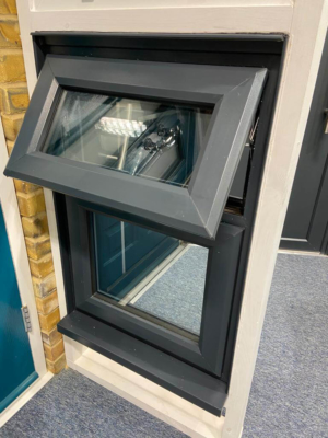 anthracite smooth uPVC window frames Surrey