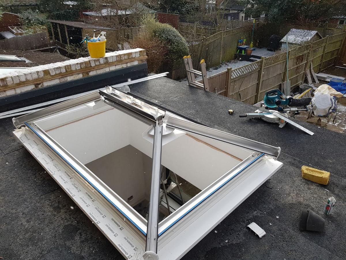 Installing roof lanterns in Kew