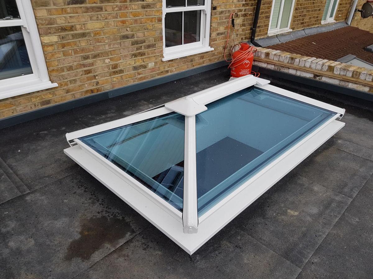 Installation of roof lantern in Kew