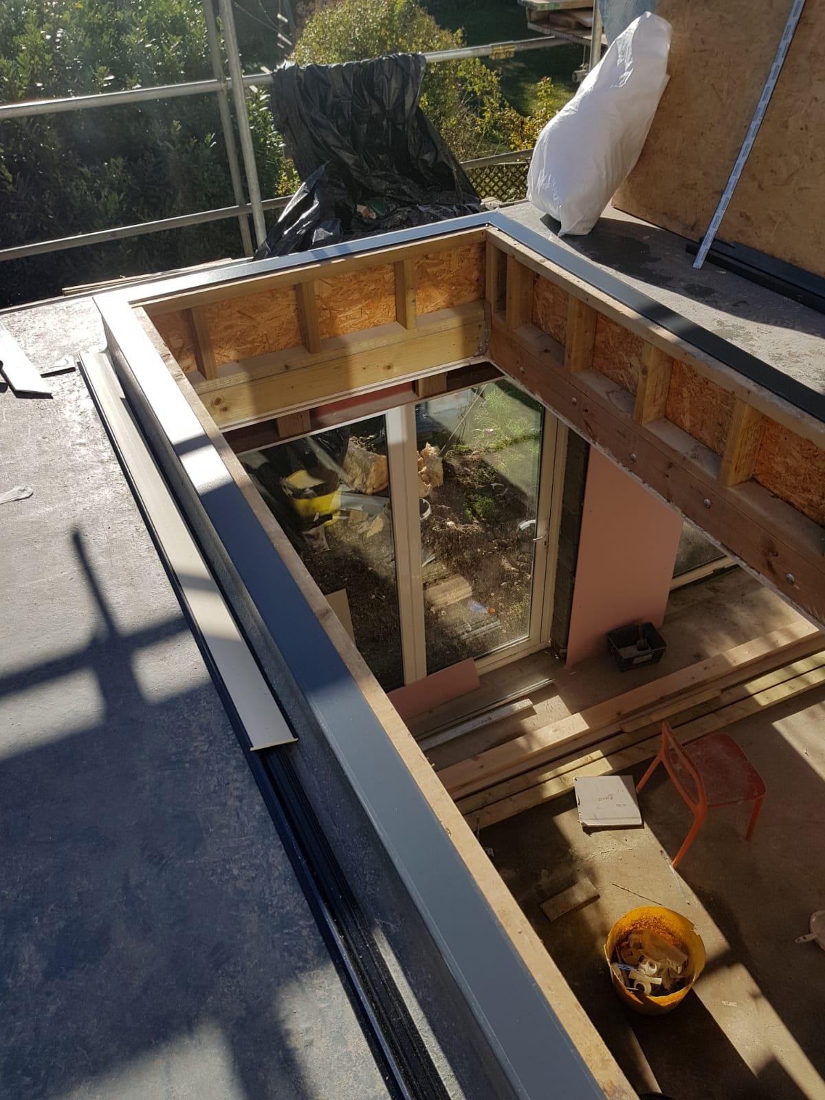 stratus roof lantern installation kew 02 - Installation of a Stratus Roof on a New Extension in Kew
