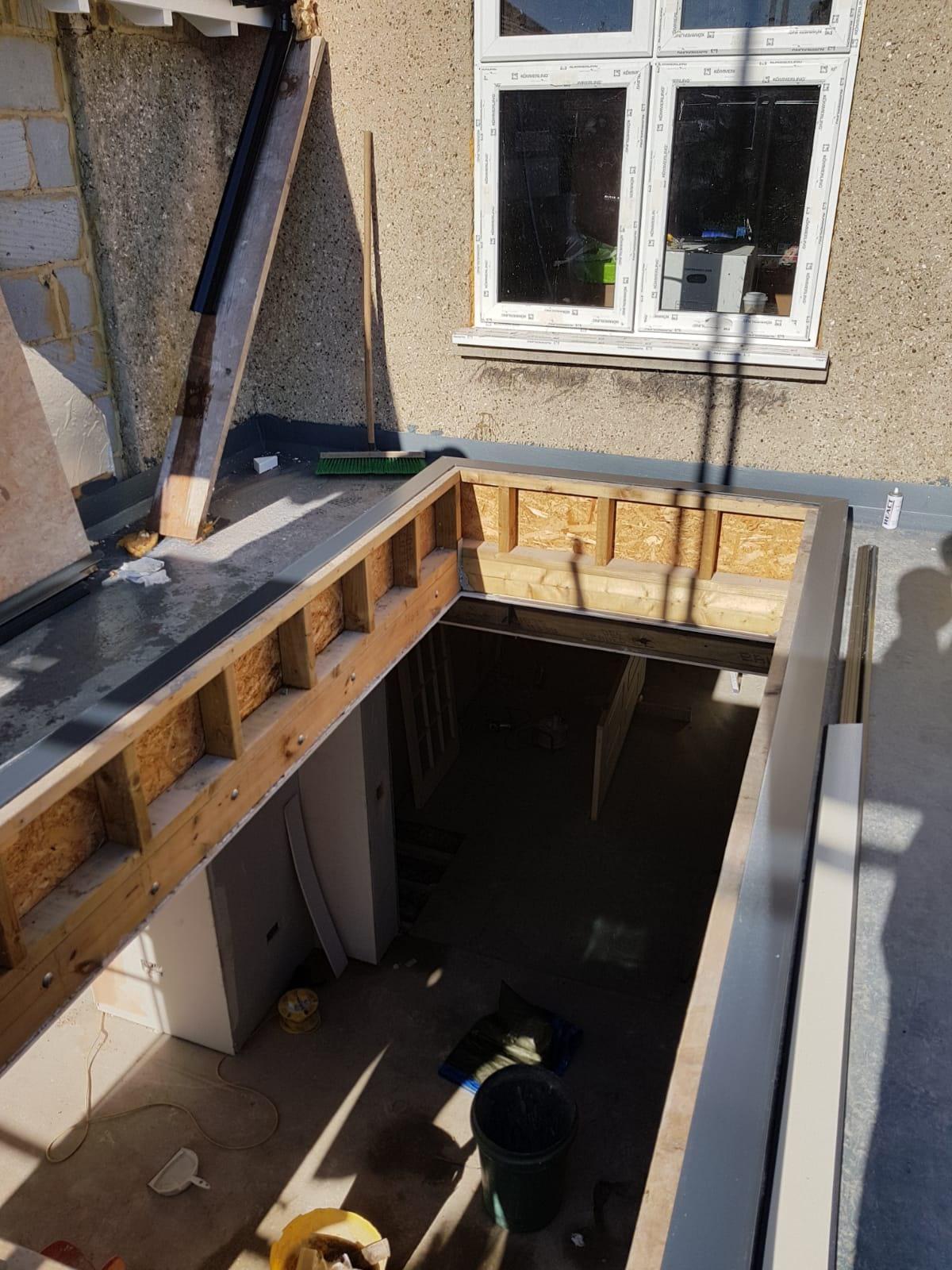 Roof lantern installation in Kew